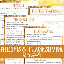 thanksgiving history facts plus unit study awe filled