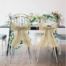 wedding chair bows 100pcs pack burlap chair sash with lace 17cm x 275cm stitched edge