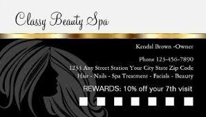 Beauty Spa Business Cards Girly Loyalty Rewards Punch Card Business Cards Girly Business Cards