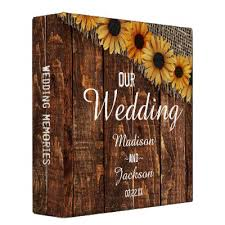400 photo album sunflower country custom wedding photo album binder zazzle