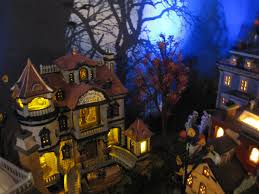 lemax halloween houses lemax spooky town dept 56 halloween village display 2013 flickr