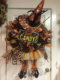 How To Make Halloween Wreaths by Candy Corn Halloween Witch Wreath By Highmaintenancedes On Etsy