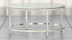 Sofa Table Crate And Barrel Era Limestone Round Coffee Table Crate And Barrel