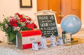 travel themed table decorations wedding reception table decoration ideas singapore mariannemitchell me