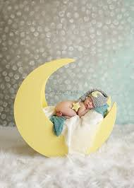 infant photo props baby moon hat newborn photo prop sleepy time hat moon and
