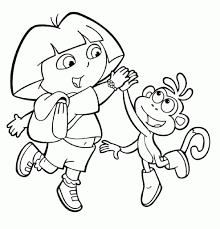 free printable dora the explorer coloring pages for kids for the