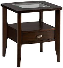amazon com jofran montego merlot square end table with small