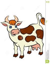 cartoon farm animals for kids cute cow stock vector image