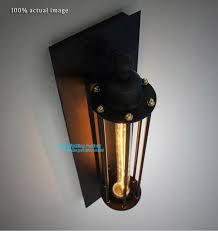 Vintage Industrial Wall Sconce Best 25 Industrial Wall Lights Ideas On Pinterest Regarding Light