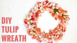 diy wreaths easy diy tulip wreath the happier homemaker