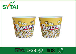 personalized buckets lovely girl and animated paper popcorn containers
