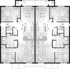 super ideas house plans 2 family 6 multi family plan w3050 detail