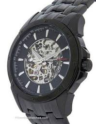 bulova bracelet images Bulova mens automatic black dress watch skeleton dial bracelet jpg
