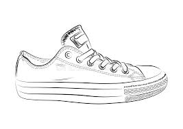 sketch of sports shoes on a white background vector illustration