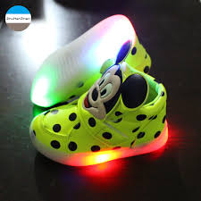minnie mouse light up shoes 2018 1 to 5 years old led kids light shoes baby boys and girls