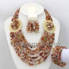 beads wedding necklace images Latest fashion nigerian beads jewelry set rhinestone african jpg