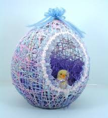 paper mache easter baskets twine easter egg crafthubs
