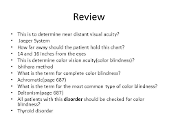 Most Common Type Of Color Blindness Review Chapter 14 Physical Examinations And Assessment Procedures