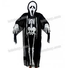 Scream Halloween Costume Kids Halloween Scream Ghost Mask Costume Skeleton Gloves Adults