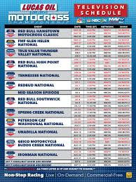motocross race schedule 2015 lucas oil pro motocross 2017 pro motocross broadcast schedule