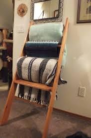 rustic ladder towel rack towel
