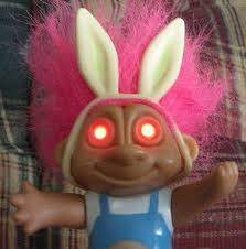 dolls that light up troll doll with light up glow eyes soma 1992