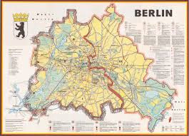 World Map 1980 Cartography City Map East Berlin Detail Berlinmitte Stock First