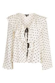 polkadot top polka dot bed blouse topshop