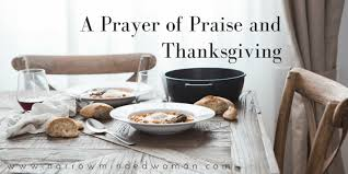 a prayer of praise and thanksgiving a narrow minded