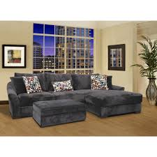 l shape gray velvet sectional sleeper sofa with left chaise lounge