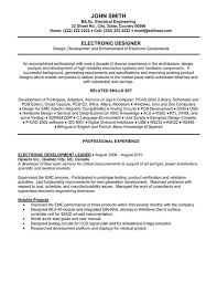 Electrical Engineering Resume Samples by Electronics Engineering Resume Samples