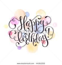 text birthday card happy birthday greeting card watercolor spots stock vector