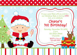 First Year Invitation Birthday Cards First Birthday Christmas Party Invitation Christmas