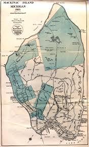 map of mackinac island mackinac island michigan 1915 scanned maps map library msu