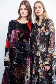 winter garden florals bloom across silk velvet and intricate