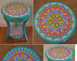 Painted Accent Table Painted Furniture Etsy