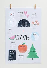 printable calendar 2016 etsy 2016 wall calendar art print wall calendar par peidesign sur etsy