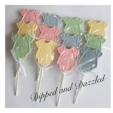 2 doz baby shower chocolate lollipops baby boy party