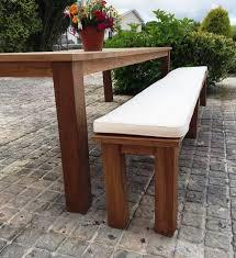 picnic table bench cushions treenovation