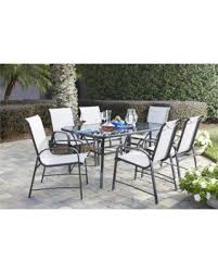 Glass Table Patio Set Get The Deal Cosco Outdoor Living 7 Steel Grey Patio