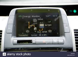 a toyota hybrid car dashboard stock photo royalty free image 54175018 alamy