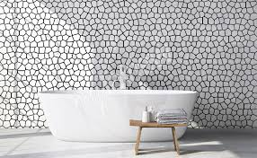 murals black and white to size of wall myloview com go to the product black and white mural for bathroom