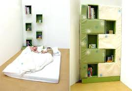 Folding Bed Desk Bookcase Bookshelf In Bedroom Revolving Italian Wall Bed Desk