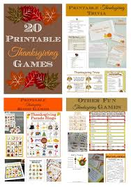 20 printable thanksgiving my pinterventures
