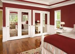 Ideas For Sliding Closet Doors Wood Sliding Closet Doors For Bedrooms Best Home Design Ideas