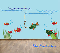 etsy wall decals fish color the walls of your house etsy wall decals fish reusable fish wall decal childrens reusable fishing wall decal