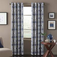 Bed Bath And Beyond Window Shades Marrakech Window Curtain Panel In Blue Bed Bath U0026 Beyond