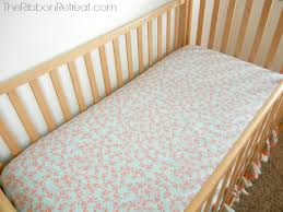 How To Make A Crib Mattress To Make A Crib Sheet The Ribbon Retreat