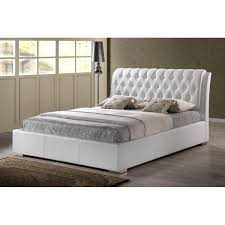Tufted Headboard King White Modern Bed With Tufted Headboard King Size See White