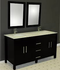 amazon com 62 inch espresso solid wood double bathroom vanity set